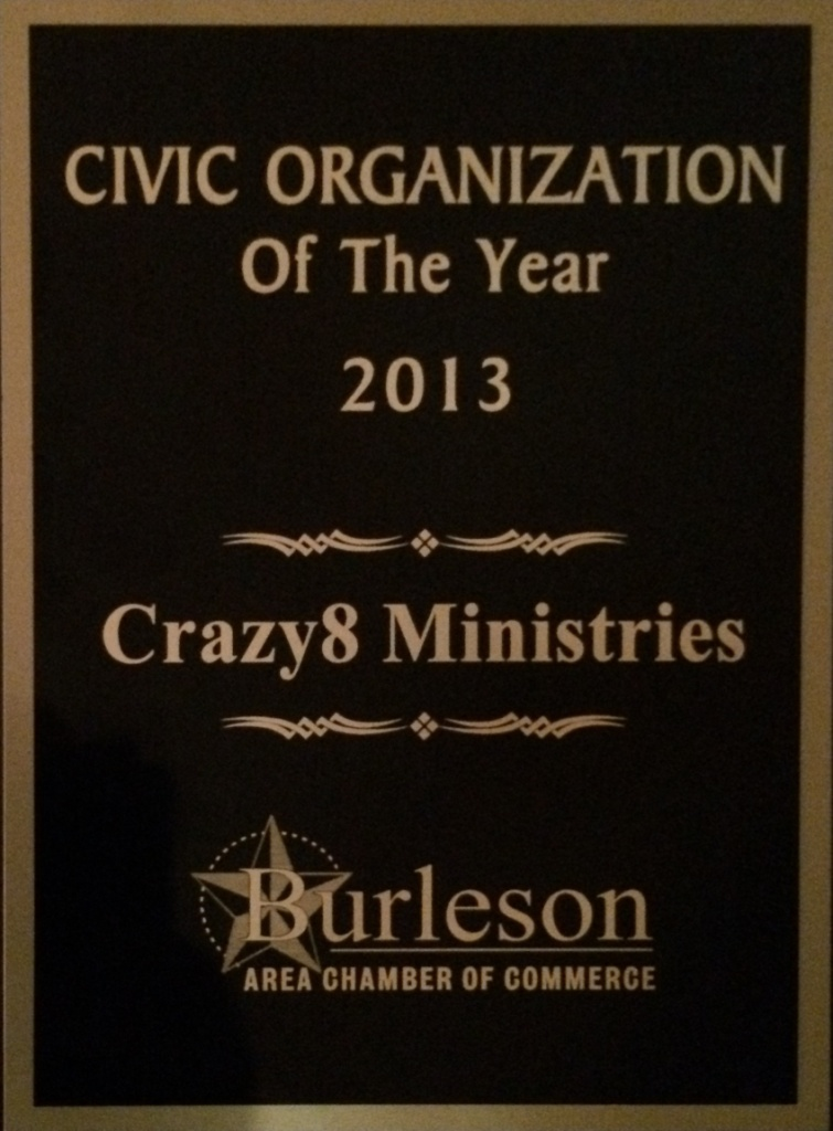 Burleson Chamber of Commerce Civic Organization of the Year 2013